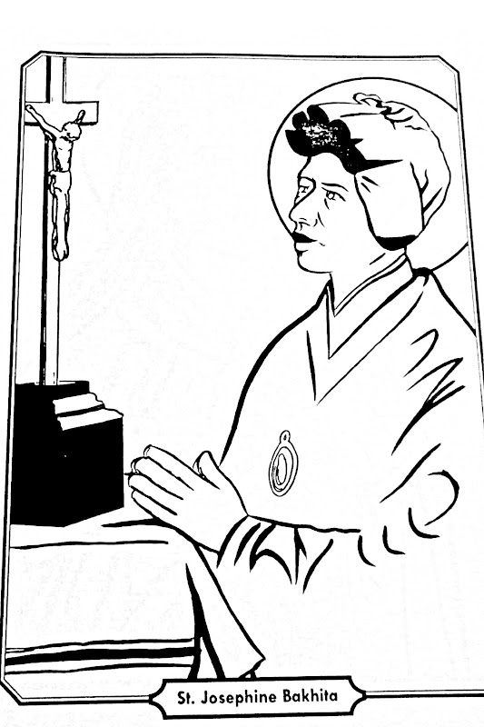 Saint Josephine Bakhita coloring pages