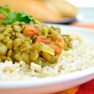 Coconut and Curry Lentils.