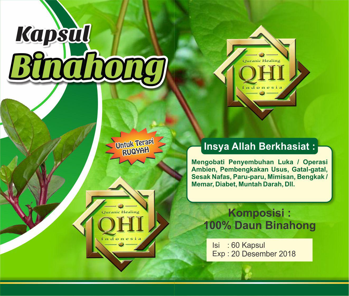 Qhi Online Store Kapsul Binahong Isi 120