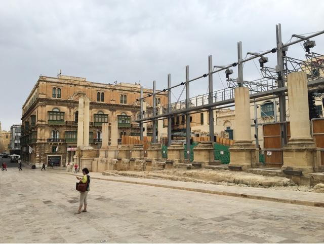 Valletta, ancient city, Malta, square and opera house