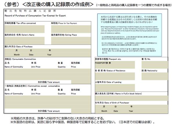 11 2016年日本免稅退稅新制