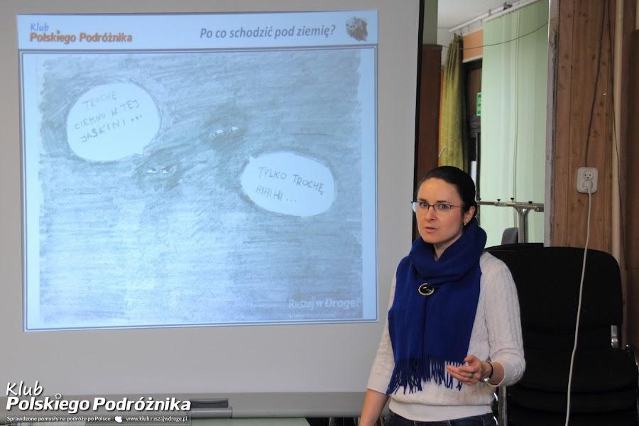 Kasia na Spotkaniu Klubu Polskiego Podróżnika