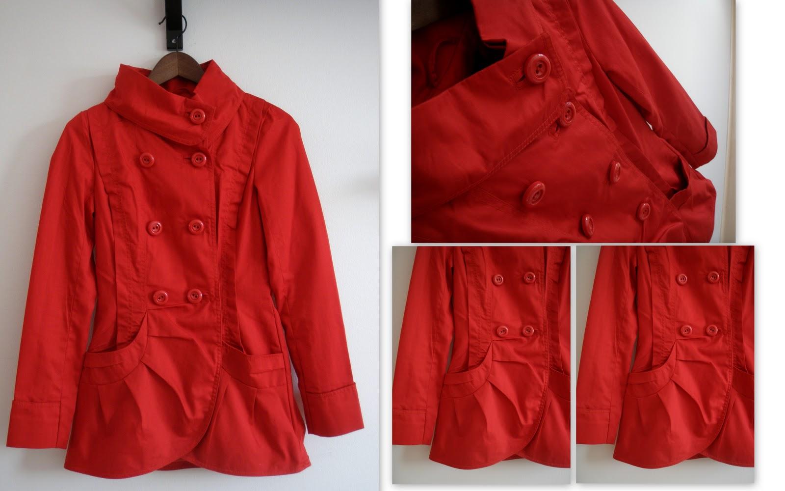 Ja sitten vielä viimeisimpänä ehkä lempparein ostos  punainen kevättakki!  Yleensä en pukeudu punaiseen IKINÄ d4dc39286f