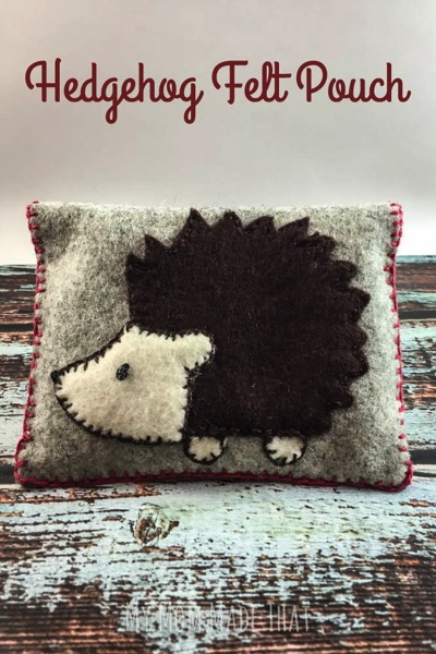 Hedgehog Felt Pouch Title