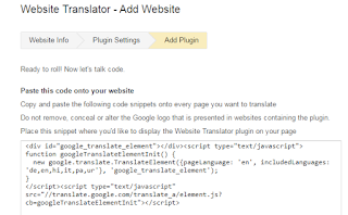 Am not possible to setup google translate for my website - Google