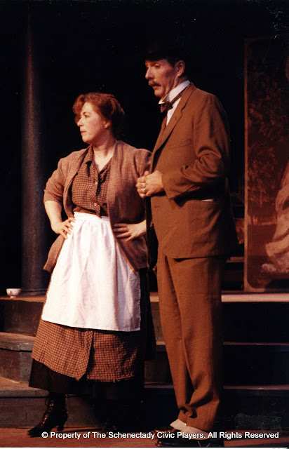 Donna Newton and David Putnam in LOOK HOMEWARD, ANGEL (R) - March 1994.  Property of The Schenectady Civic Players Theater Archive.