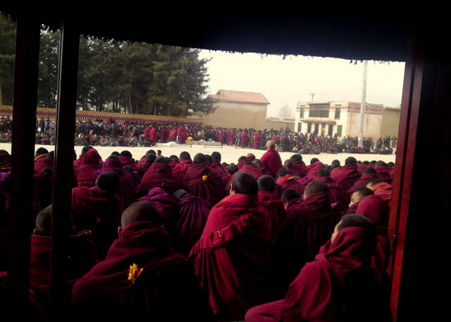 Phuntsog's Funeral at Kirti Monastery on 19 March