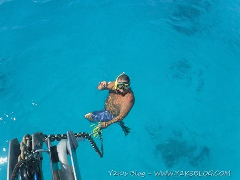 Max controlla la situazione ancora, catena e teste di corallo - Tahanea SE