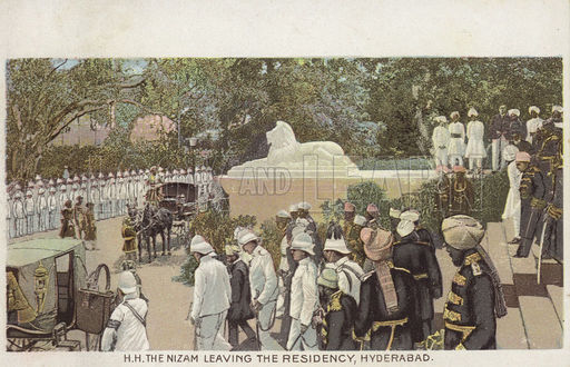 H. H. The Nizam leaving The Residency, Hyderabad.