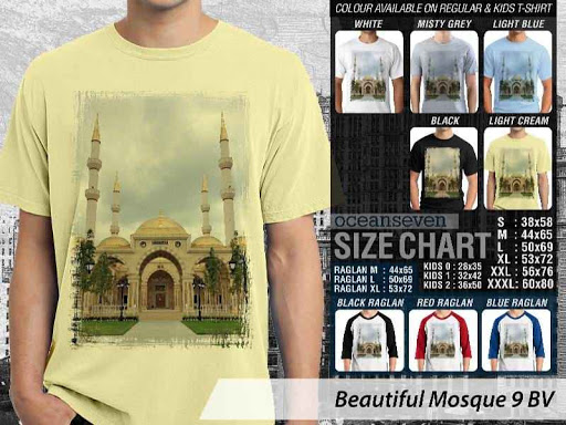 Kaos Muslim Islam Beautiful Mosque 9 distro ocean seven