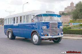 Old Maltese Bus in Blue