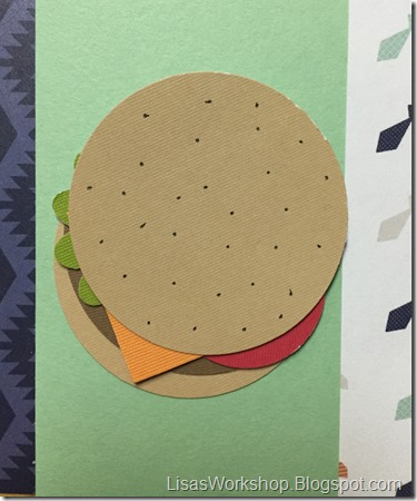 CM Father's Day Blog HOP - Punch Art Burger and Beer by Lisa's Workshop