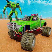 Robot Monster Truck: Future Robot Transform Game