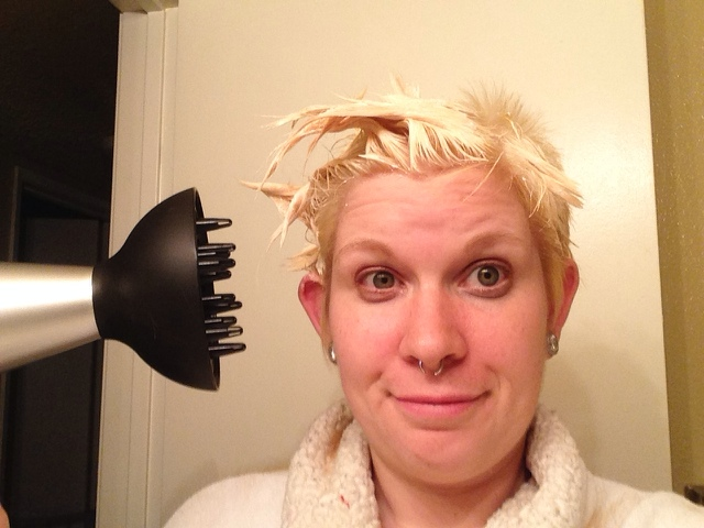 This is the reality of going blonde.
