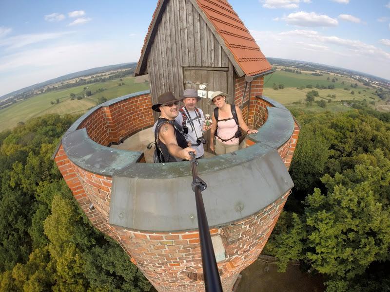 Selfie auf dem Bismarckturm Bad Freienwalde