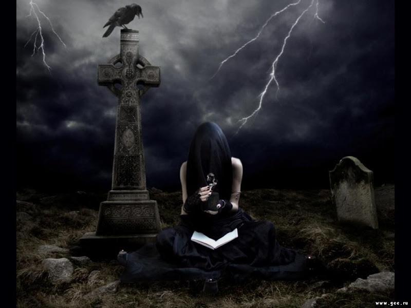 Priestess On Cemetry, Black Magic