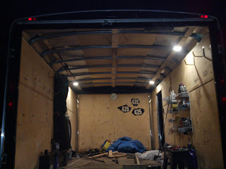 Interior is about 75% done, this picture taken as I called it a night the night prior to departure for Chicago.