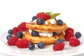 Image result for waffles with fresh berries