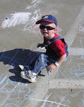 Photo: How much chalk can get on one little Andrew?