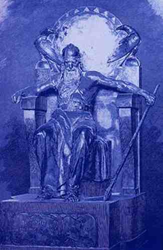 Odin Enthroned With Huginn And Muninn, Asatru Gods And Heroes