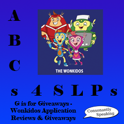 ABCs 4 SLPs: G is for Giveaways - Wonkidos Application Reviews and Giveaways image