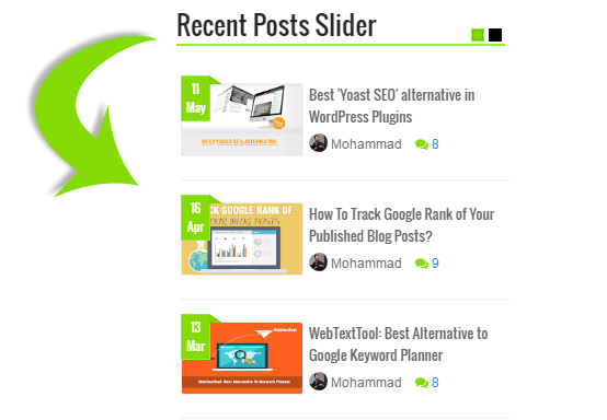 Blogger Recent Posts Slider Widget