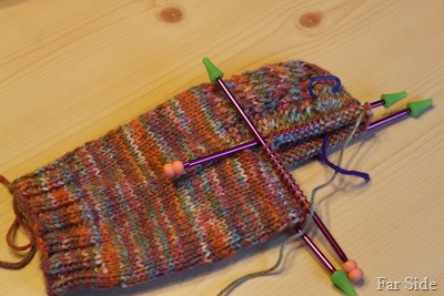 working on the gusset