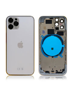 iPhone 11 Pro Housing without small parts HQ Silver