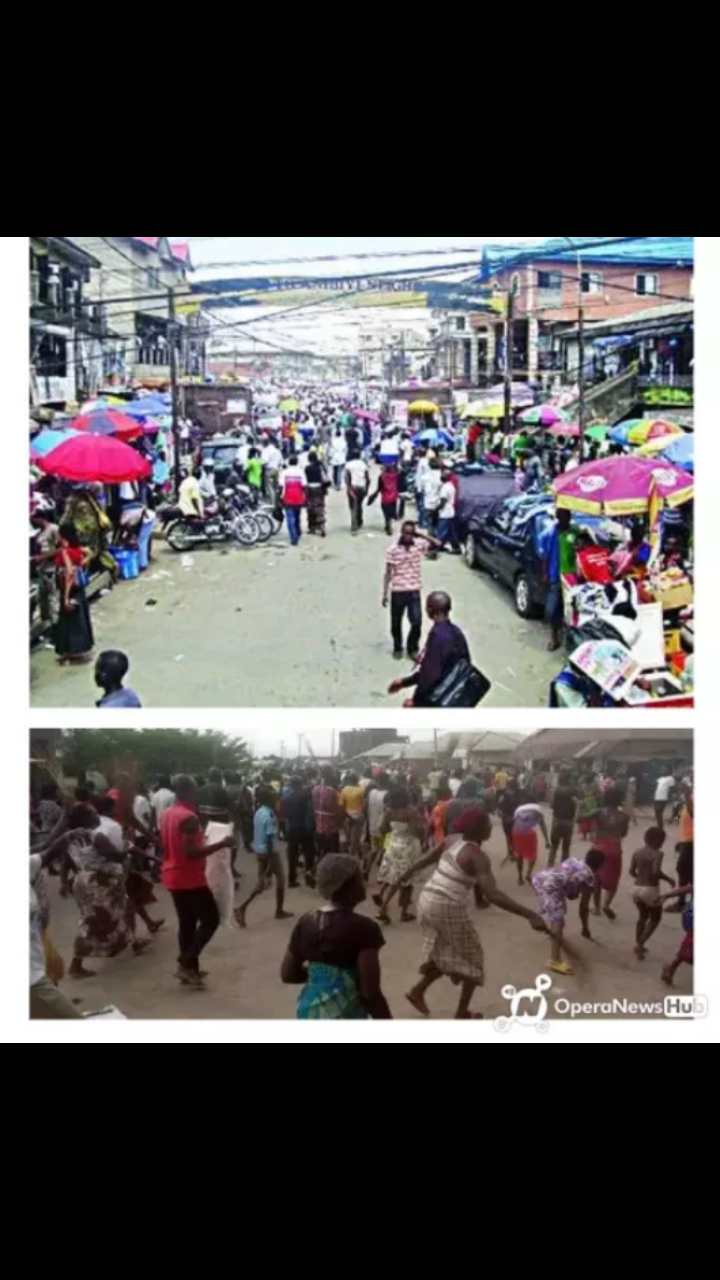 Funke akindele and husband Spotted in Lagos market serving their punishment