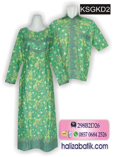 Busana Muslim Terbaru, Batik Couple Murah, Baju Batik Modern, KSGKD2