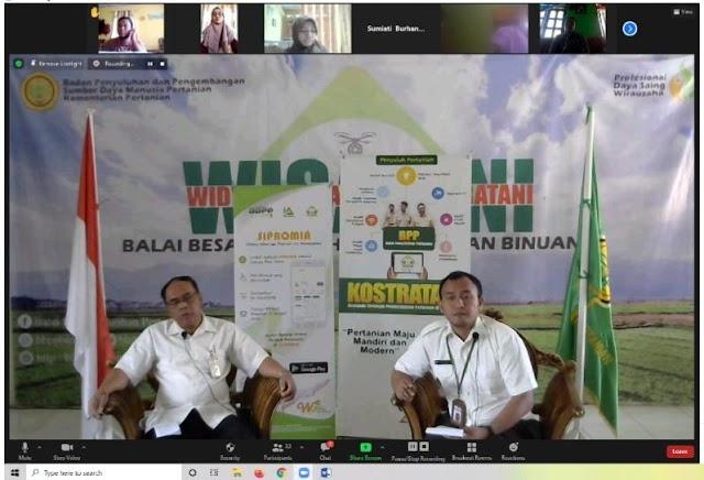 Rintis Program READSI Kementan, BBPP Binuang adakan Virtual Training