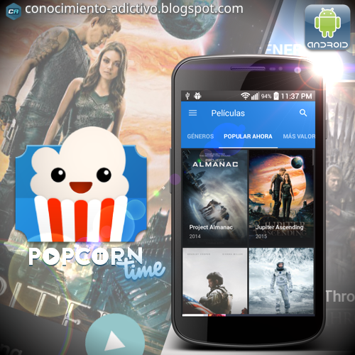 PopCorn Time para Android 0.2.0