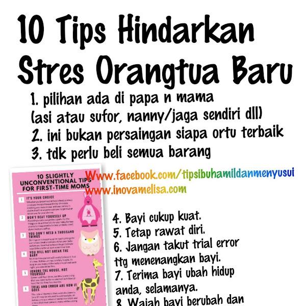 10 Tips Hindarkan Stres Orang Tua Baru