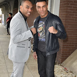 OIC - ENTSIMAGES.COM - Junior Witter wbc super lightweight world champ and Rob Reid Super Middleweight Champion of the Wolrd - WBC - IBO and WBF at the  Britz go Bollywood - Ark Royal Banquet Hall  in London 29th February 2016 Photo Mobis Photos/OIC 0203 174 1069