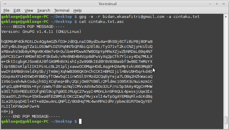 Hasil Encrypt