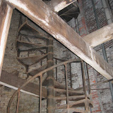 Detail of the spiral stair leading to the top