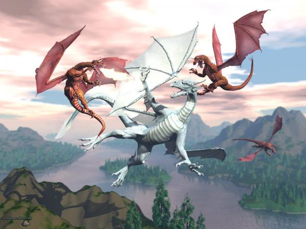 Dragon Fight, Dragons