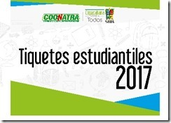 tiquete estudiantil copacabana