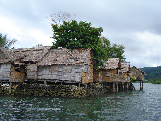 Raolo Island in the Solomon Islands is one of the many places threatened by sea level rise. Photo: Catherine Wilson / IPS