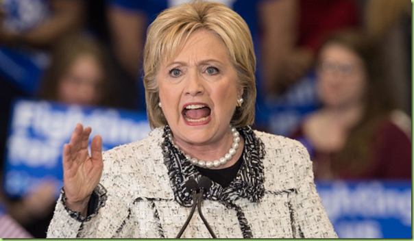 angry hillary