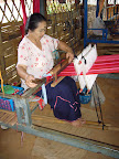 One of our weavers in the weaving centre