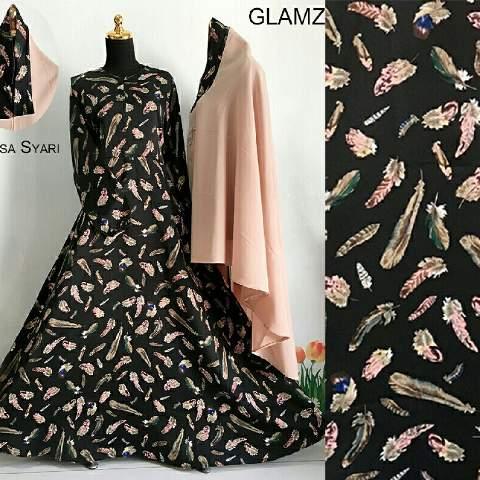 Aprianti Collection Gamis Premium Erlisa Syari Black Baju