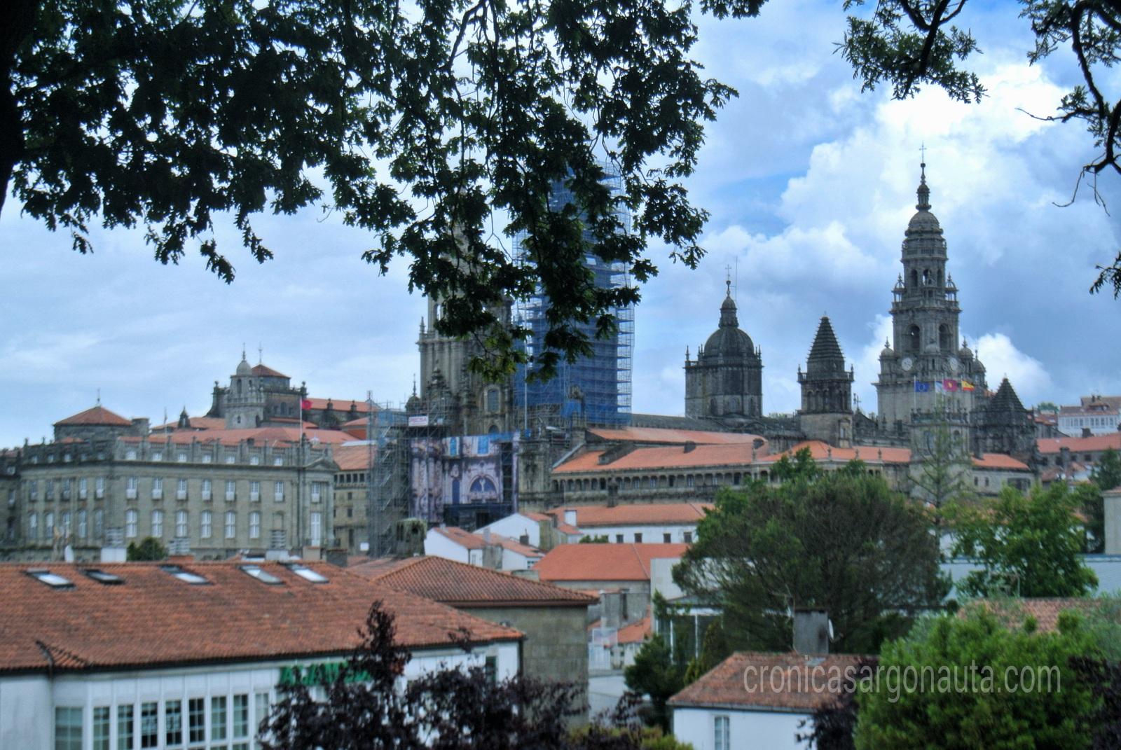 Las torres de la catedral de Santiago de Compostela