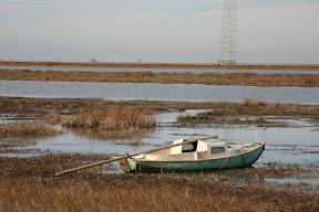 Abandoned boat, Alviso Slough