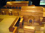 A wooden model of how the temple would have looked