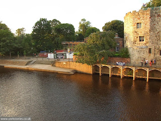 Aug 2013, from Lendal Bridge. Engine house hidden by tree, new extension on left, under construction