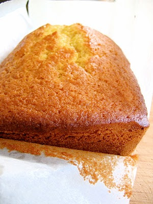 loaf of olive oil pound cake