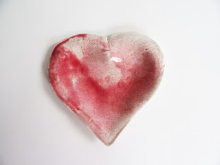 Jan Burtz Blush Porcelain Heart dish