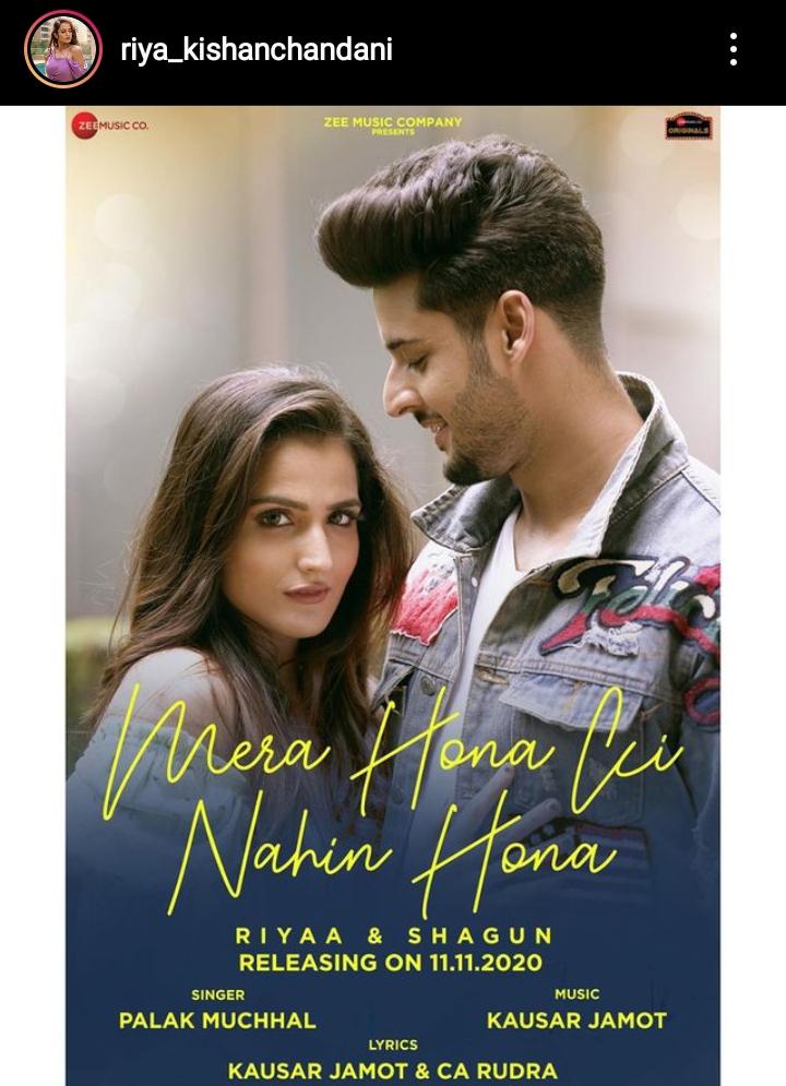 """Mera Hona Ki Nahi Hona"" Featuring Riya Kishanchandani And Shagun Crosses 1 Million Views On YouTube"