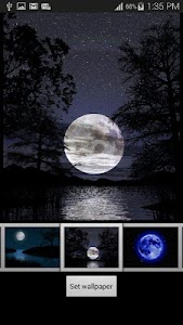Full Moon Night Wallpaper screenshot 4